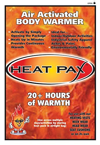 Heat Pax Air Activated Body Warmers - 40 (Air Activated Heating Vest)