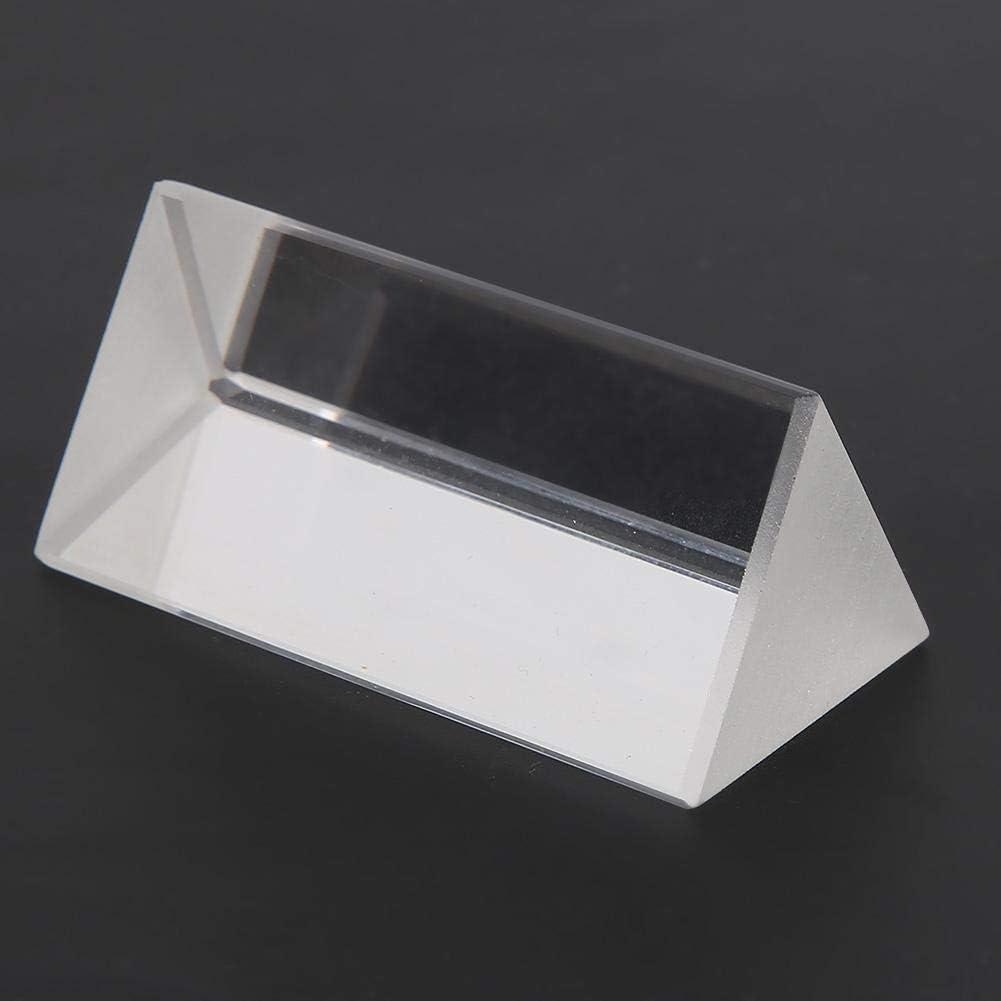 30 30 Triangulars Prism 60mm Triangulars Prism K9 Optical Glass Triangular Prism for Teaching Light Spectrum Color Prism