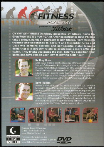 Golf Fitness Academy Presented By Titleist Get Your Game In Shape Dvd
