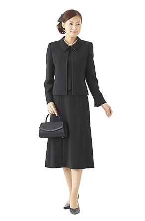 85aa7b7c86abe (モノワール) MONOIR 喪服 レディース 礼服 ブラックフォーマル スーツ 3点 セット ジャケット ブラウス スカート