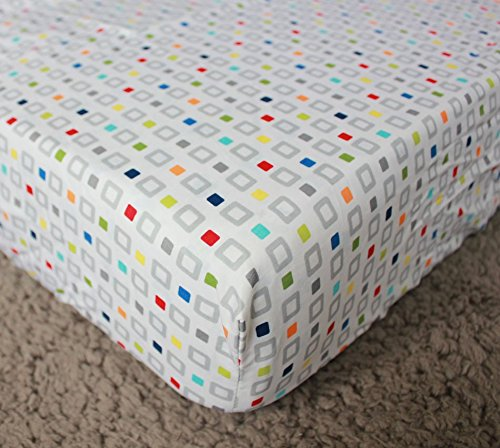 NAUGHTYBOSS Baby Bedding Set Cotton 3D Embroidery Colorful Tetris Quilt Bumper Mattress Cover Urine Bag Blankets 9 Pieces Multicolor by NAUGHTYBOSS (Image #8)