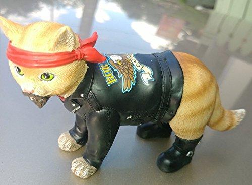 Motorcycle Biker Cat Figurine Hamilton Collection