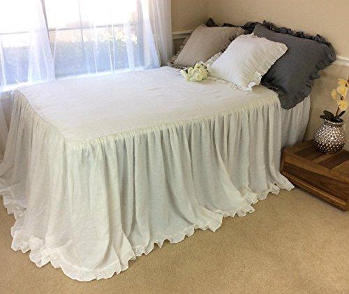 White Bedspreads With Cinderella Ruffles Hem