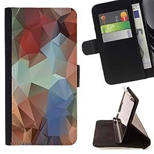 Momo Phone Case / Flip Funda de Cuero Case Cover - Polígono Colores;;;;;;;; - Huawei Ascend P8 (Not for P8 Lite)