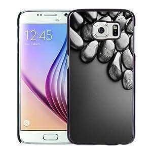 NEW Unique Custom Designed Samsung Galaxy S6 Phone Case With Shiny Black Stones 3D_Black Phone Case wangjiang maoyi