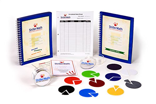 ShillerMath Fractions Kit - Homeschool Math Montessori Curriculum - (2nd Grade to Pre-Algebra) by ShillerMath