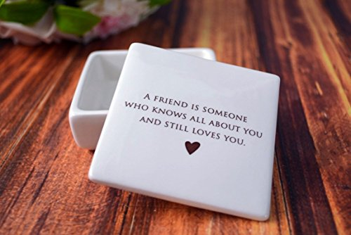 SHIPS FAST - Unique Friendship Gift - Keepsake Box - A friend is someone who knows all about you and still loves you - Gift Boxed