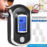 Alcohol Tester Breathalyzer, Digital Breath Blood Alcohol Tester Proof Portable Police Digital Breath High-precision Alcohol Tester for Home Brew (Breathalyzer)