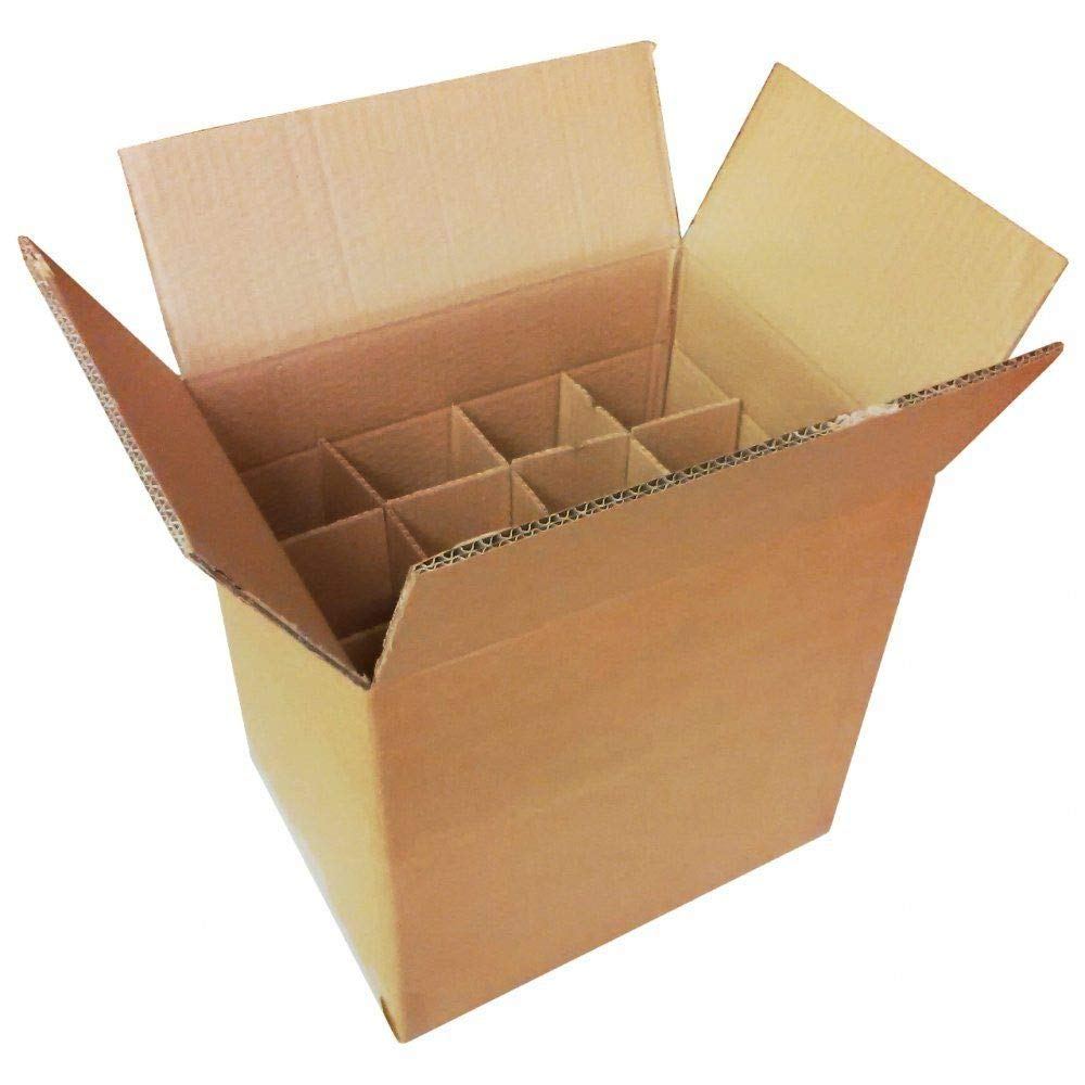 Box Home Brew Wine Beer Cider 6//12 Bottles 6 Bottle, 1 Cardboard Bottle Boxes with Dividers