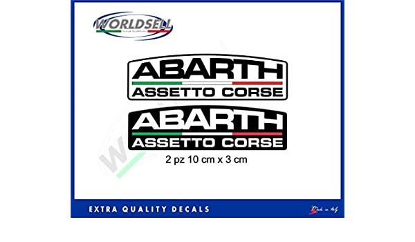 Pegatinas Stickers 2 piezas logo Abarth Assetto Corse Italia Fiat 500 Punto WRC: Amazon.es: Juguetes y juegos