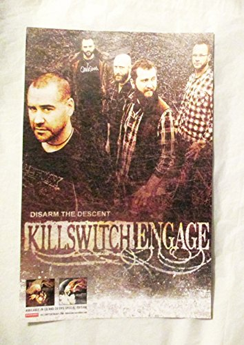 2013 Killswitch Engage Disam and Descent 2 sided Roadrunner Poster