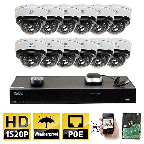 GW Security 2592 x 1520 4MP HD Security Camera System