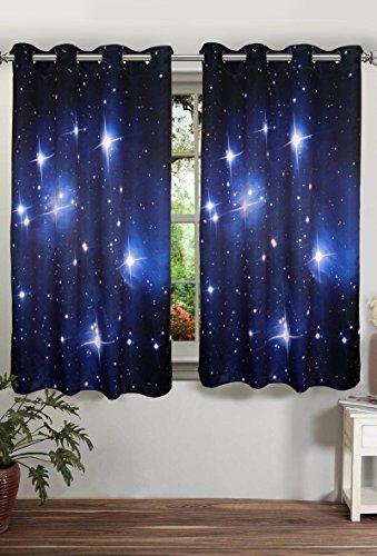 digitally printed stars polyster blackout