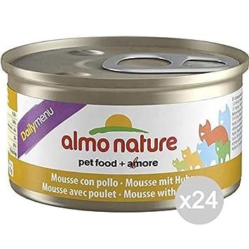 Almo nature Juego 24 Gato 153 Lata 85 Pollo Mousse Comida para Gatos: Amazon.es: Productos para mascotas