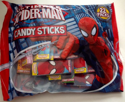 Marvel Ultimate Spiderman Candy Sticks Party Favors 22