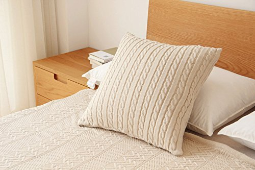 Lumimi Popular Cathedral Cable Knit Pillow Sham, Knit Down ,