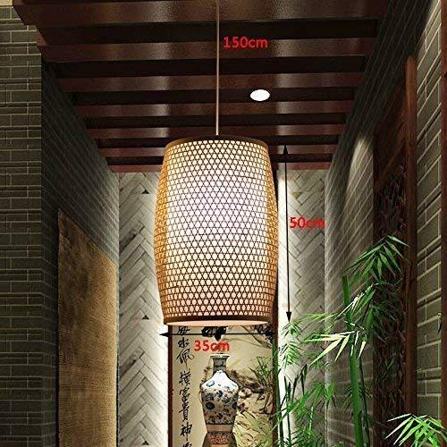 LAMP Candelabros de bambú, luces del hotel restaurante que cuelgan ...