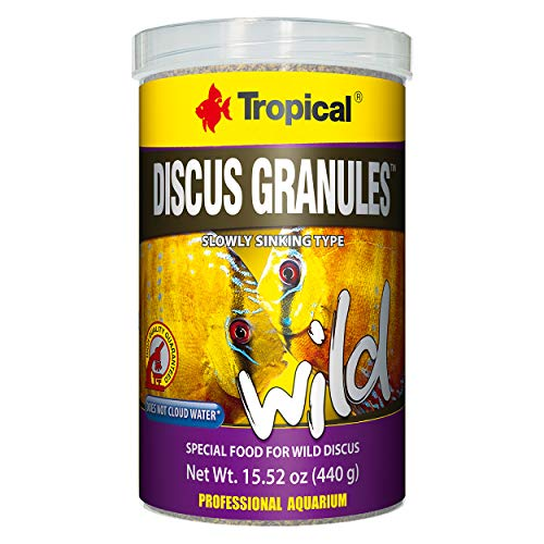 (Tropical USA Discus Granules Wild Fish Food Tin, 440g)