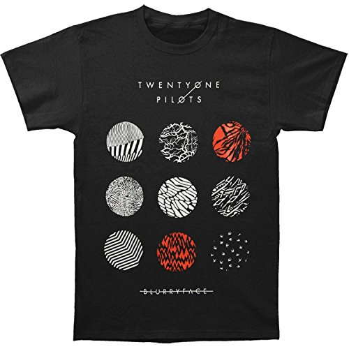 Twenty One Pilots Men's Blurry Face Tee T-shirt Large Black