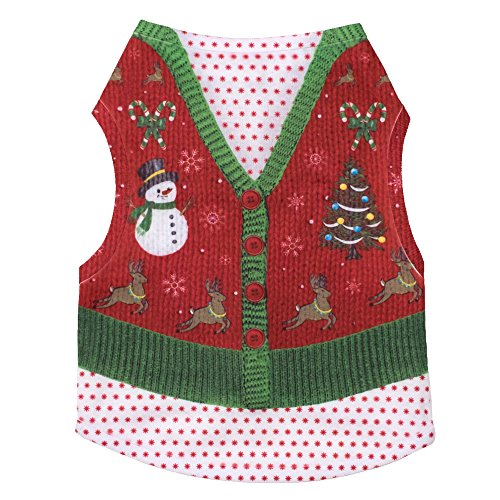 The Worthy Dog Ugly Sweater Tee for Dogs, XX-Large, Holiday by The Worthy Dog