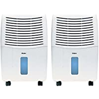 Haier 2-Speed Portable 32-Pint Mechanical Air Dehumidifier with Drain (2 Pack)
