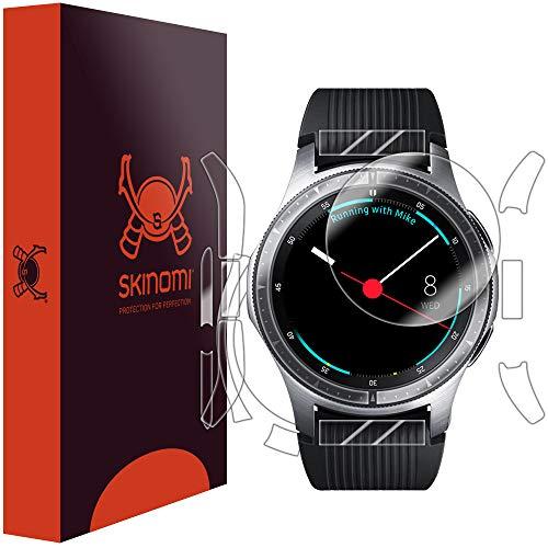 Skinomi Samsung Galaxy Watch Screen Protector + Full Body (46mm), TechSkin Full Coverage Skin + Screen Protector for Samsung Galaxy Watch Front & Back Clear HD Film