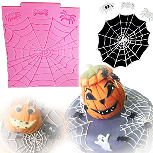 TraveT Halloween Series Spider Web Liquid Silicone Mold, Fondant DIY Clay Modeling Tool -