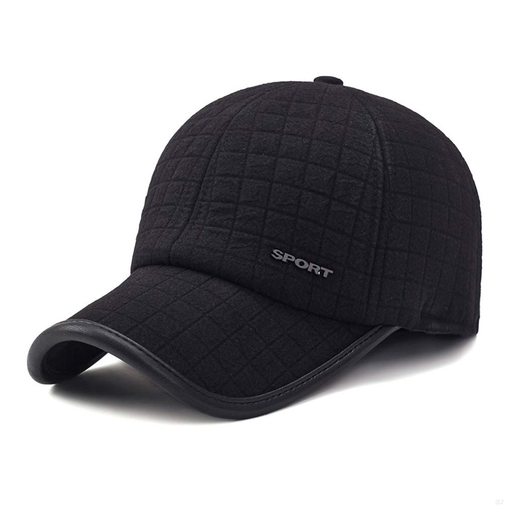 9377116dc56 Amazon.com   SLBGADIEME Winter Baseball Cap Ear Sporting Goods Hats Hats  for Men Cotton Visor Caps Baseball Hat Men Mens Warm Winter Baseball Cap  Earmuffs ...
