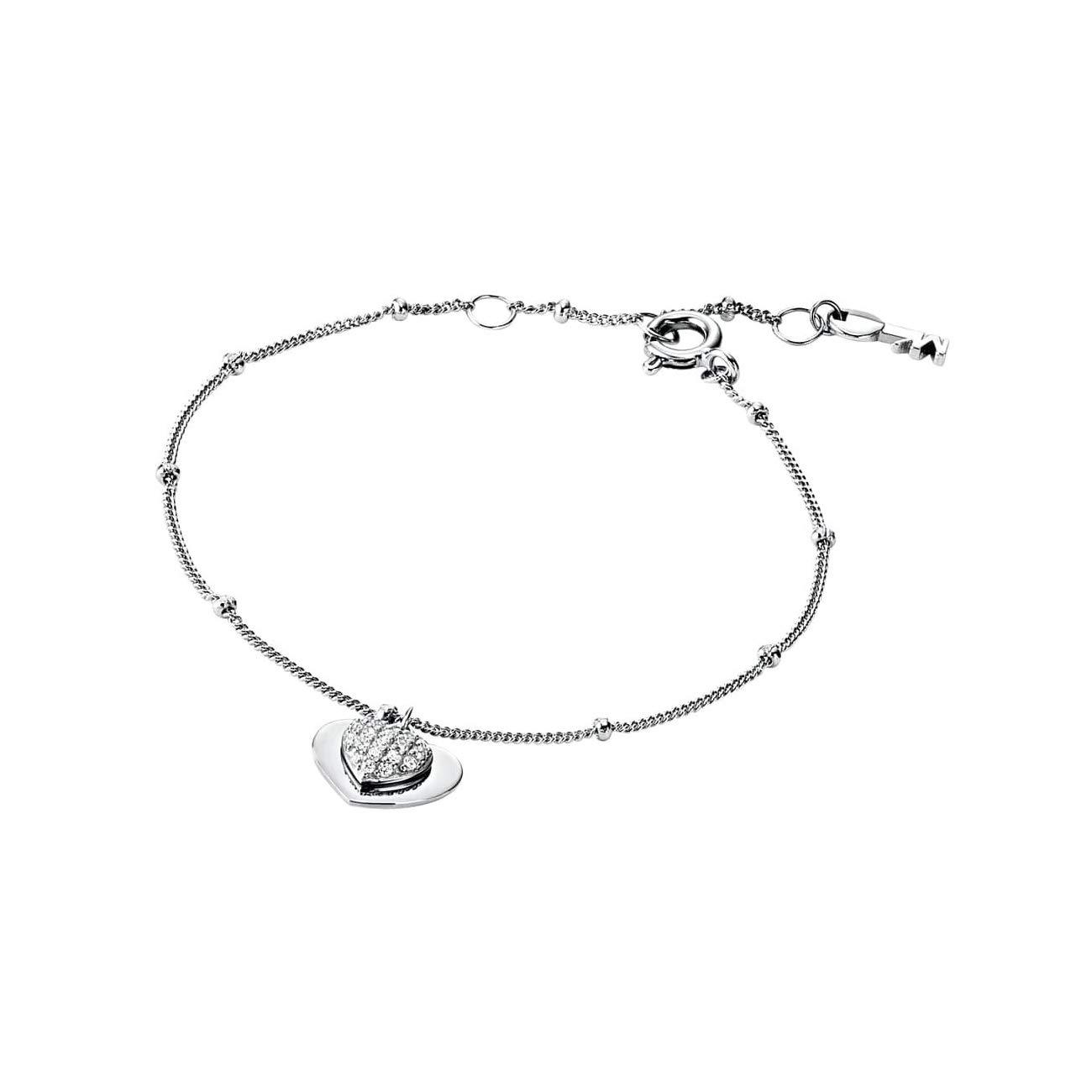 Michael Kors Damen Armband Sterling Silber 925 Pavé Herz
