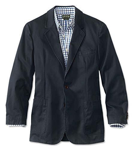 - Orvis Men's Washed Casual Sport Coat, Navy, 42