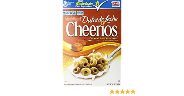 Amazon.com: Cheerios Dulce De Leche Caramel Flavored Cereal, 12 Oz. (2 Pack): Cold Breakfast Cereals