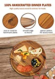 Acacia Wood Dinner Plates, AIDEA Round Wood