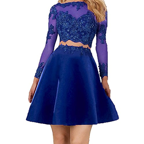 Gowns Ball Star Prom 2 Sleeve Little Piece Women's Blue Evening Dresses Royal Party short Long SqxCPwvC