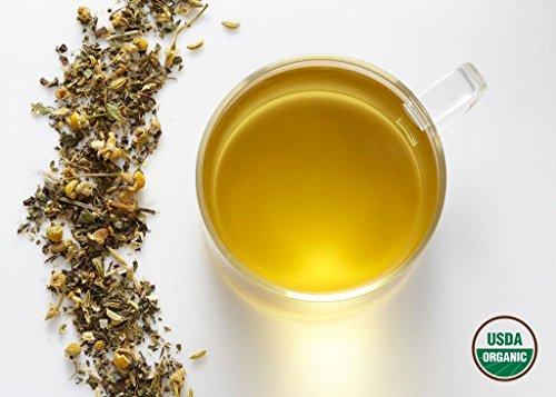 Komo Tea Gleeful BELLY Herbal Tea - All Natural & 100% Organic Premium Loose Leaf Tea (4oz / 60 cups)