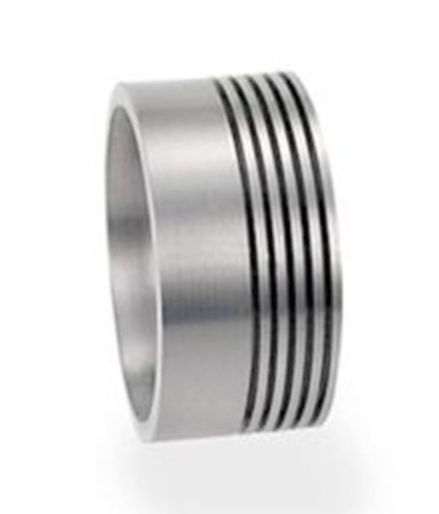 Minimalist Stack Rings 8mm Comfort-Fit Titanium Flat Band, Size 6