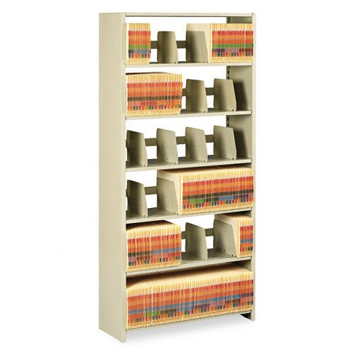 Tennsco 1276PCSD 36 by 12 by 76-Inch Snap-Together Open Shelving Steel 6-Shelf Closed Starter Set, Sand - Closed Shelving Starter