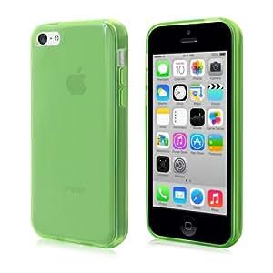 PrimaCase - Funda Carcasa para Apple iPhone 5c en Gel TPU Silicona Transparente - Verde