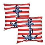 hampton bay outdoor pillow - 16 in. Anchor Patriot Outdoor Toss Pillow (2-Pack)