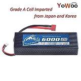 YoWoo 7.4V 6000mAh 60C-120C 2S LiPo Battery Hard Case for RC Traxxas Cars Boat Truck Buggy Truggy(5.43x1.81x0.98inch - 0.64lb)