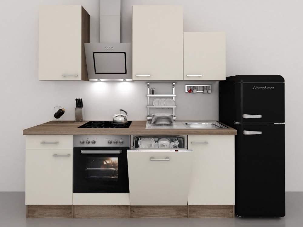 Retro Kühlschrank Ebd : Küchenzeile cm magnolie mit retro kühlschrank kopffreihaube