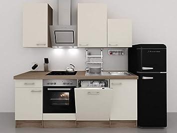 Retro Kühlschrank Klein : Küchenzeile cm magnolie mit retro kühlschrank kopffreihaube