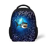 HUGS IDEA Cool 3D Shark Kids Mini Backpack Zoo Animals Printed School Book Bags For Sale