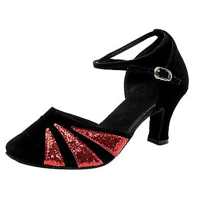 POIUDE Damen Tanzschuhe Sandalen Moderne Tanzschuhe Weicher