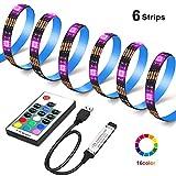 LED TV Backlight - OMGAI 6×1.64ft RGB USB Operated LED Strip Lights 40-60 Inch HDTV Bias Lighting 17-Key Remote