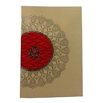 Nsc Floral Ganesha Design Wedding Invitation Card For Hindu