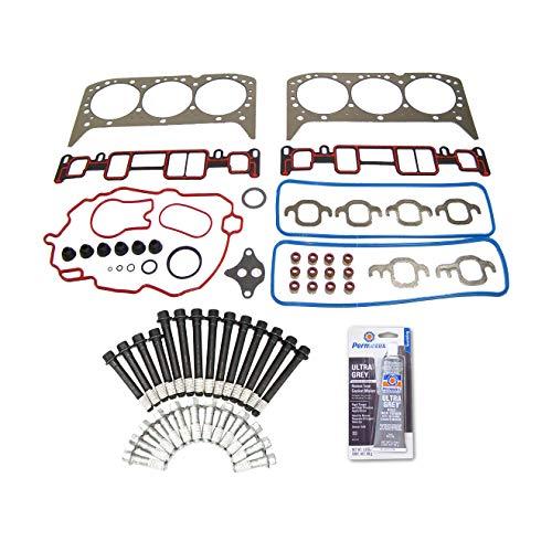 (Head Gasket Set Bolt Kit Fits: 96-06 Chevrolet GMC Isuzu 4.3L OHV 12v Cu. 182 VORTEC)