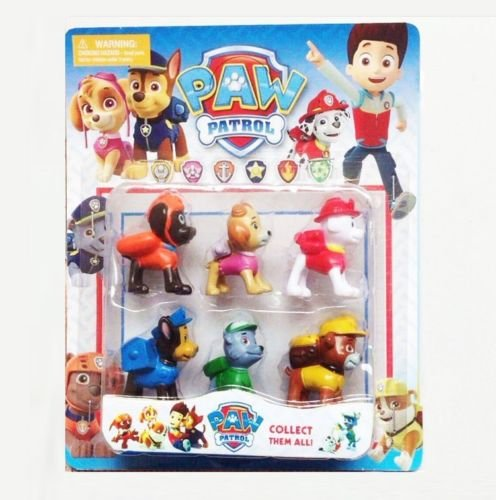 Dog Mascot Spot (Shalleen New 6Ps Of Set Paw Patrol Toys Action Figures Plastic Puppy Patrol Dog Kids)