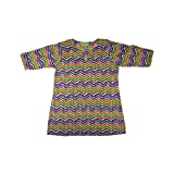 Baby Girls Clothes Multicolored Thumb Print patterned Ethnic Kurta for Girls