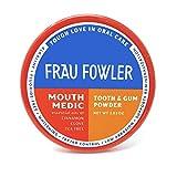 Frau Fowler Best Organic Tooth Powder - MOUTH MEDIC, Botanically Clean, Teeth-Whitening, Remineralizing, Fluoride Free, Gluten Free, SLS Free -Restores Enamel and Freshens Breath, 2 oz