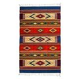 NOVICA Multicolor Zapotec Wool Area Rug (4' x 7'), 'Juchitan Fiesta'